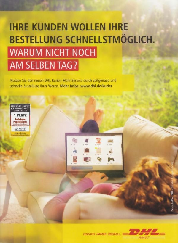 Deutsche Post DHL - Lieferung am gleichen tag